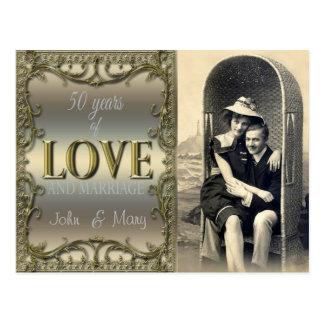 50 år av kärlek vykort