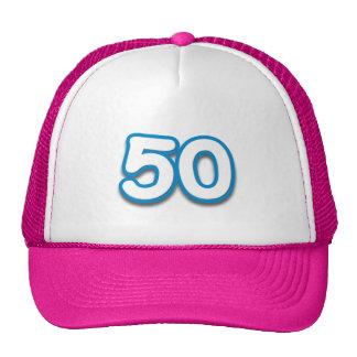 50 år födelsedag eller årsdag - tillfoga text trucker keps