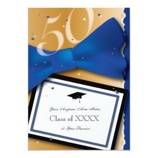 50 år klassificerar för blåttbrytning för möte 12,7 x 17,8 cm inbjudningskort