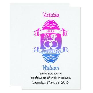 50 bröllopsdag för guld 50th för år traditionell 12,7 x 17,8 cm inbjudningskort