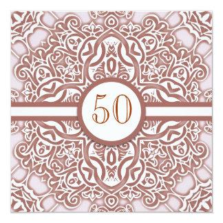 50 bröllopsdagdamastinbjudningar fyrkantigt 13,3 cm inbjudningskort