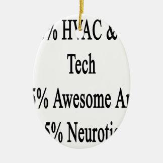 50 neurotiker 45 och 5 för enorm Tech för HVAC R Julgransprydnad Keramik