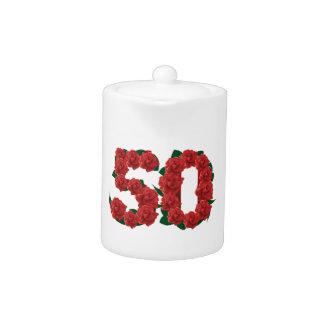 50 numrerar 50th födelsedagbröllopsdagro