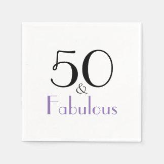 50 och pappra servetter för sagolik 50th
