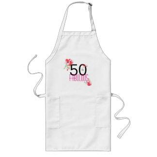 50 och sagolik födelsedagsfest för blommigt 50th långt förkläde