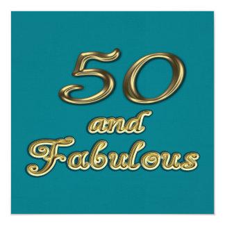 50 och sagolik partyinbjudan fyrkantigt 13,3 cm inbjudningskort