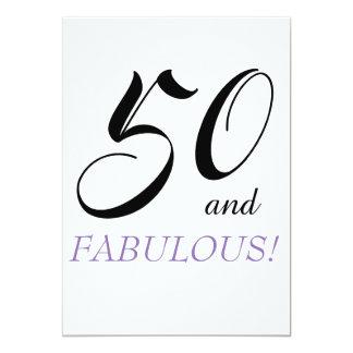 50 och sagolikt födelsedagsfestpapper Invatations 12,7 X 17,8 Cm Inbjudningskort