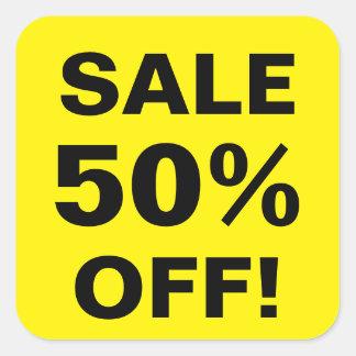 50 procent av reaprisklistermärkear för fyrkantigt klistermärke