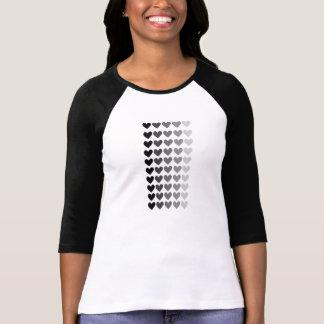 50 skuggar av grå färghjärtaShapar Tshirts