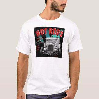 50-talHOT RODS, sten - och - rullar design T-shirts
