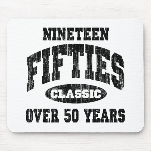50-talklassikerfödelsedag musmattor