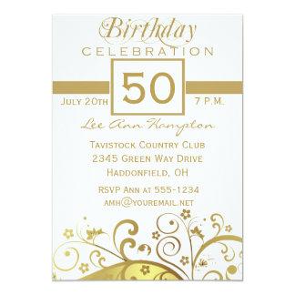 50th - 59th födelsedagsfest inbjudan