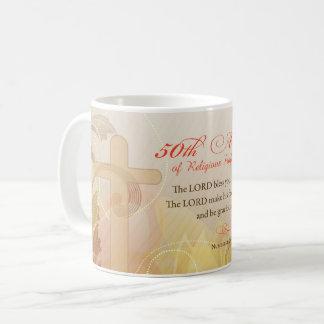 50th Årsdag av det religiösa yrket, nunna Kaffemugg