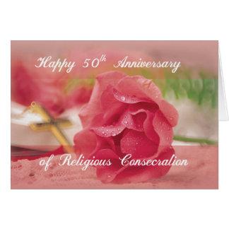 50th Årsdag av religiös invigningrosaRo Hälsningskort