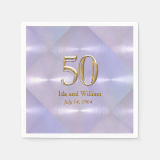 50th Årsdag eller födelsedag Pappersservett