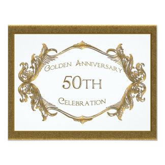 50th Årsdagfirande 10,8 X 14 Cm Inbjudningskort