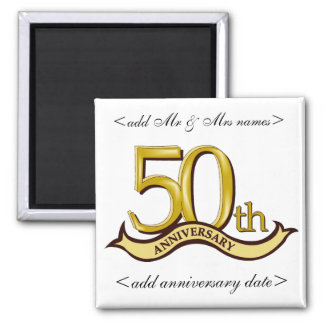 50th Årsdagparty favors Magnet