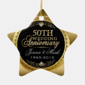 50th Bröllopsdag Julgransprydnad Keramik