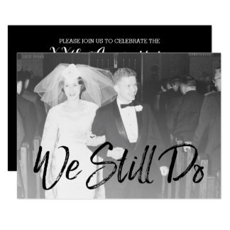 50th Bröllopsdag och foto - vi stillar gör 12,7 X 17,8 Cm Inbjudningskort