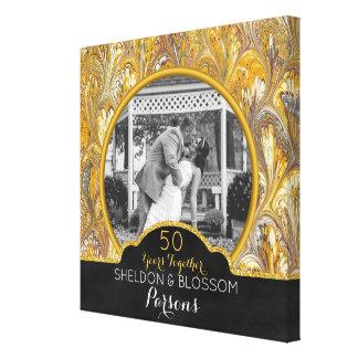 50th Bröllopsdagfotoguld 50 år Canvastryck