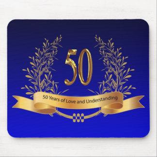50th bröllopsdaggåvor för elegant musmatta
