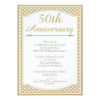 50th Bröllopsdaginbjudan 11,4 X 15,9 Cm Inbjudningskort