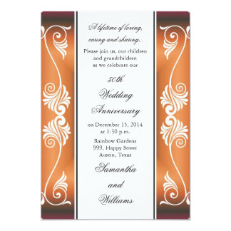 50th Bröllopsdaginbjudan 12,7 X 17,8 Cm Inbjudningskort