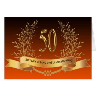 50th bröllopsdagkort för lycklig hälsningskort