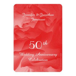 50th Bröllopsdagpartyinbjudan, steg 12,7 X 17,8 Cm Inbjudningskort