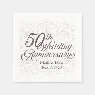 50th Bröllopsdagservett Pappersservett