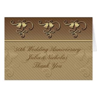 50th Bröllopsdagtackkort Kort