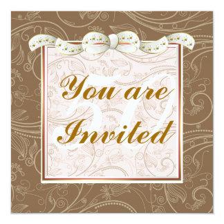 50th födelsedag för elegant lycklig för kvinnamall fyrkantigt 13,3 cm inbjudningskort