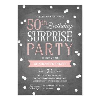 50th Födelsedag för inbjudan | för