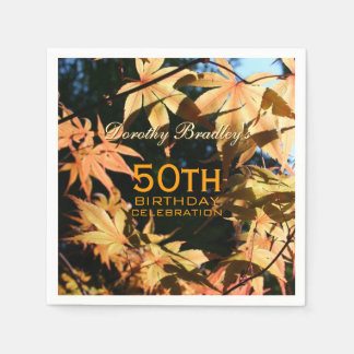 50th Födelsedagfirandehöst beställnings- P. Pappersservett