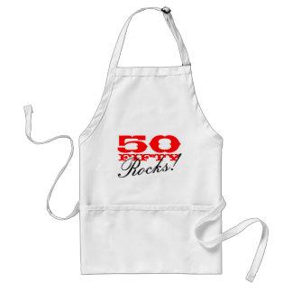 50th Födelsedagförkläde | femtio stenar! Förkläde