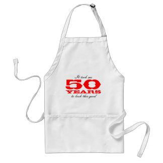 50th Födelsedaggåvaförkläde med roligt Förkläde