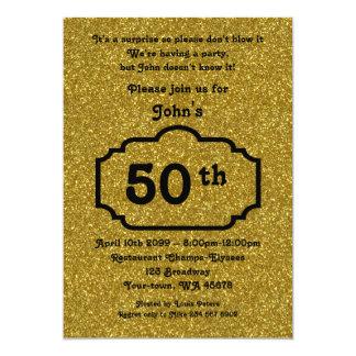 50th födelsedagmanen, partymanen, någon åldras, 12,7 x 17,8 cm inbjudningskort