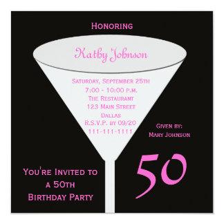 50th Födelsedagsfest inbjudan 50 i rosor