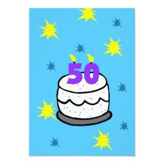 50th Födelsedagsfest inbjudan 50 stearinljus tårta