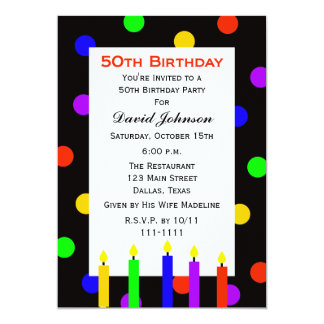 50th Födelsedagsfest inbjudan undersöker och