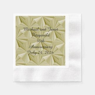50th Guld- diamantPappersservett för årsdag vid Pappersservett