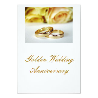 50TH Guldbröllopårsdag 12,7 X 17,8 Cm Inbjudningskort