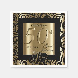 50th Guldbröllopårsdag Pappersservett