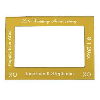 50th Magnetisk fotoram för bröllopsdag
