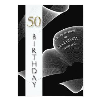 50th moderna födelsedagsfest inbjudan -