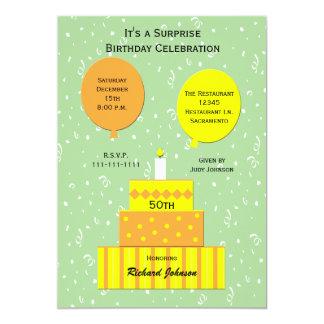 50th Överrrakningfödelsedagsfest inbjudan