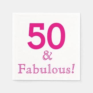 50th Pappra servetter för födelsedagsfest