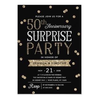 50th Party för överrrakning för 12,7 X 17,8 Cm Inbjudningskort