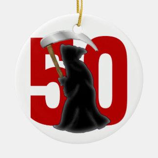 50th Rolig grym Reaper för födelsedag Julgransprydnad Keramik