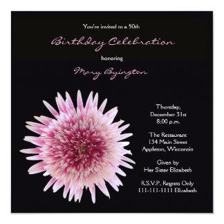 50th Ursnygg Gerbera för födelsedagsfest inbjudan